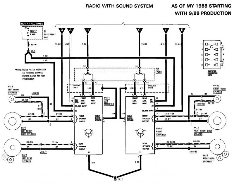 1989 300sel audio system