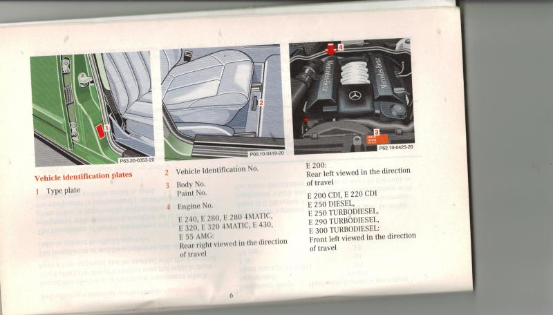 D Chassis Engine Numbers on Mercedes Benz Chassis Number Location
