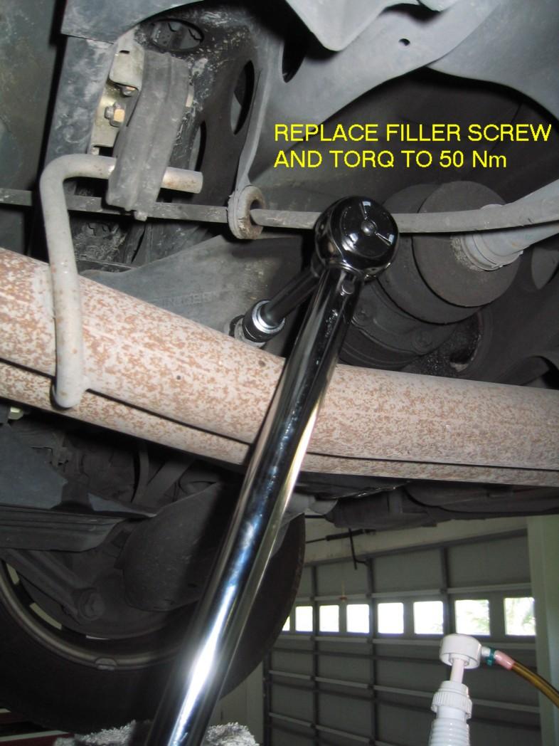 Photo Diy Rear Differential Oil Change Mercedes Benz Forum