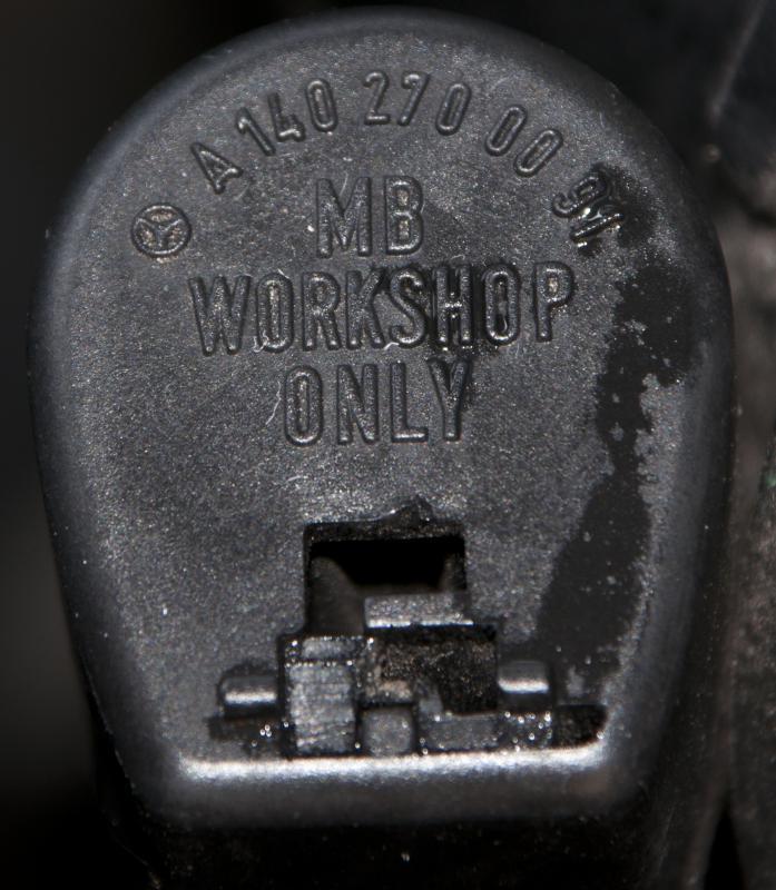 Removing transmission filler cap lock 722 6 w210 2000 e430