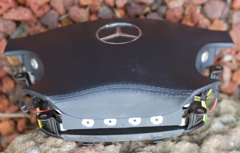 Fs W220 Black Amg Leather Stitched Air Bag Mercedes Benz