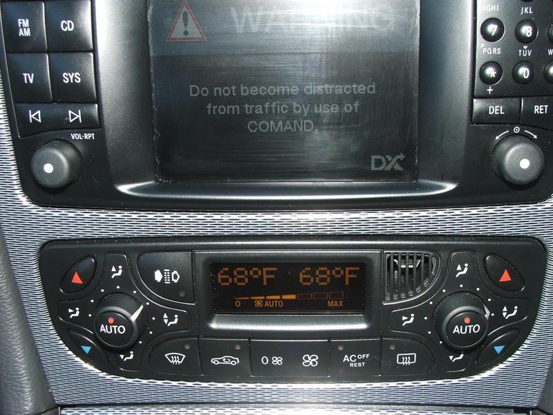 W209 cab heater temperature controls - Mercedes-Benz Forum