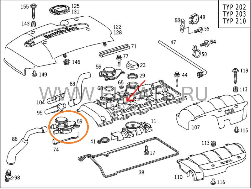 clk parts diagram