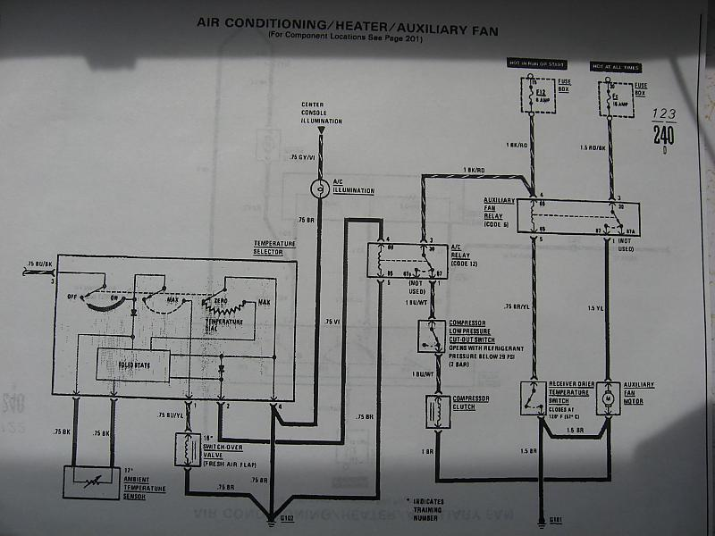 Mercedes 1981 240D Airconditioning system     diagrams    anyone   MercedesBenz Forum