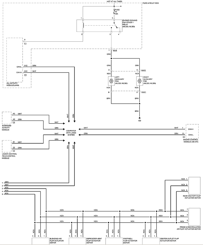 ML Air Conditioner    Wiring       Diagrams        Mercedes   Benz Forum