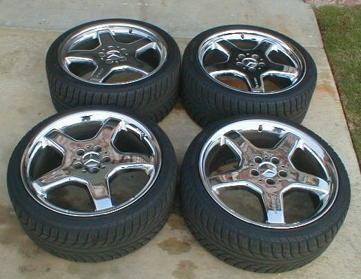"""Mercedes Benz Wheels >> For Sale Staggered 19"""" AMG Chrome Wheels & Tires ..."""