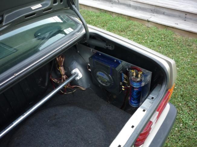 Fs Custom 190e Front Door Speaker Setup Trunk Amp Rack