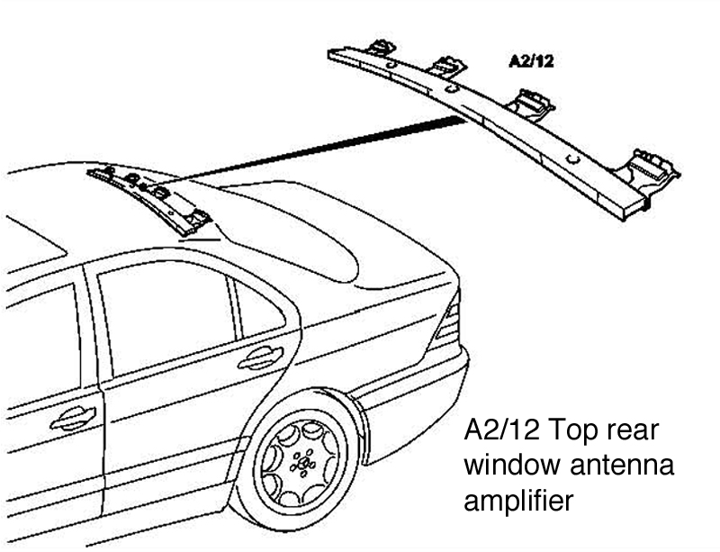 w220 antenna system and key fob