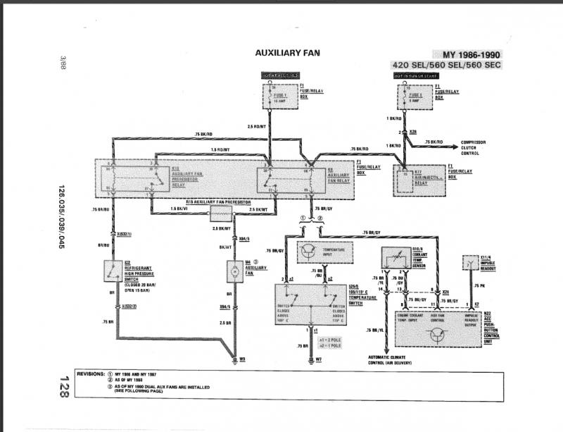 mercedes benz 280sl fuse diagram