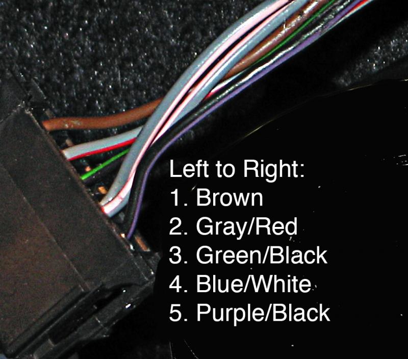 Reverse Light Wire Color