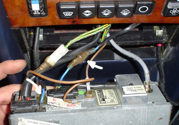 1984 500sel Power Antenna Wiring With Becker 611 Hu