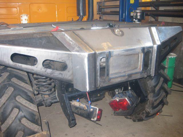 Unimog 406 Custom Rear Bumper Bed Stairway Mercedes