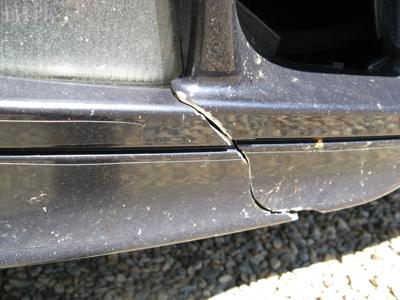 how to fix cracked plastic bumper