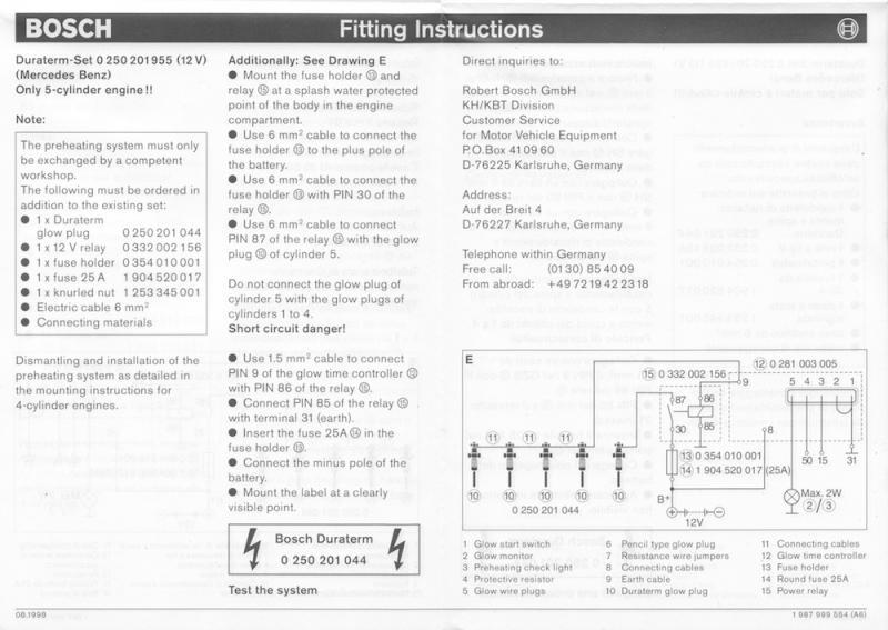 tdi glow plug relay test