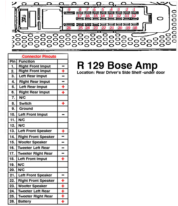 "factory radio woes page 2 mercedes benz forum Bose 15"" Subwoofer Schematic 901 bose amplifier wiring diagram"