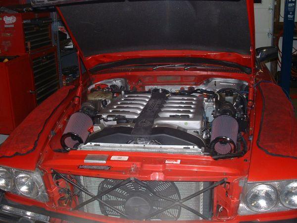 D Making Samson Worlds First V Brackets Installed on Mercedes 380sl Engine