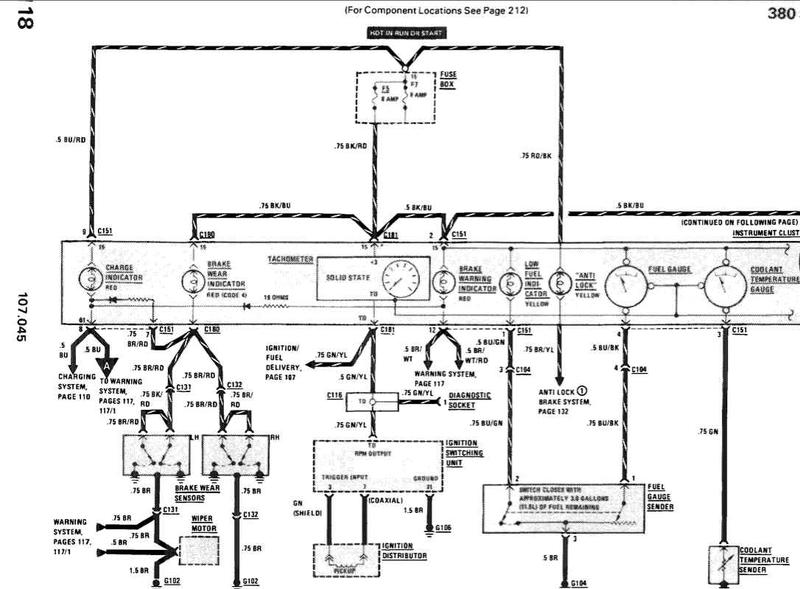 Another R107 ABS fault. Opinion please... - Mercedes-Benz Forum: alfa romeo brake light wiring diagram at translatoare.com