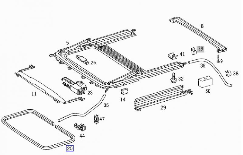 mercedes sunroof parts diagram  u2022 wiring diagram for free
