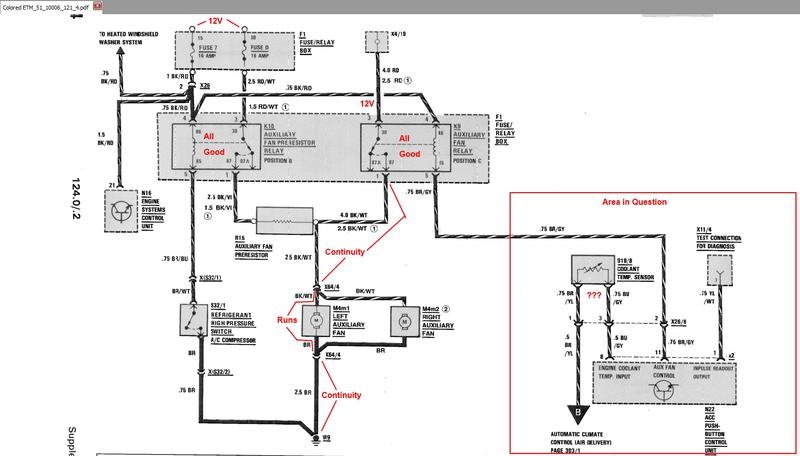 aux fans not working  can u0026 39 t find the correct coolant temp sensory wiring diagram