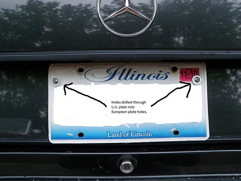 Euro To Us Plate Conversion Mercedes Benz Forum