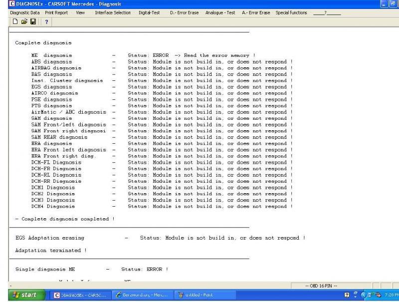 mercedes carsoft 7.4