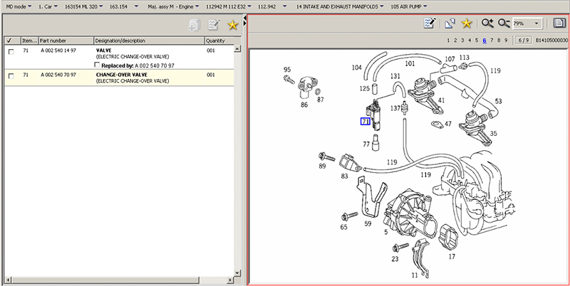 Details about  /For 1997-2000 Mercedes C230 Vacuum Power Change-Over Valve Hella 98397SC 1998