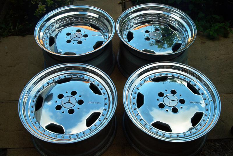 Chrome Rare Amg 17 Inch Oz Racing Three 3 Piece Wheels