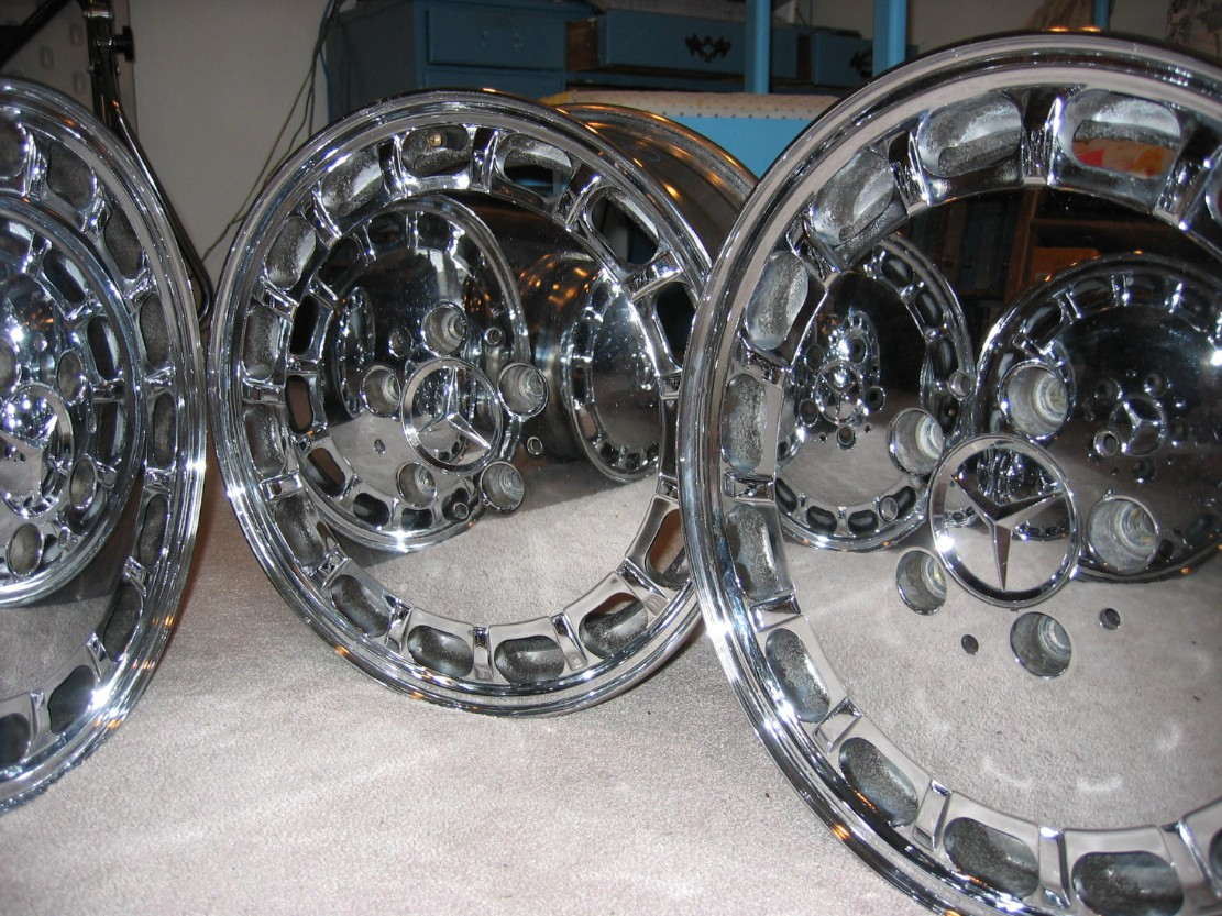Chrome 15 Inch Rims 1992 190e Exc Condition Mercedes