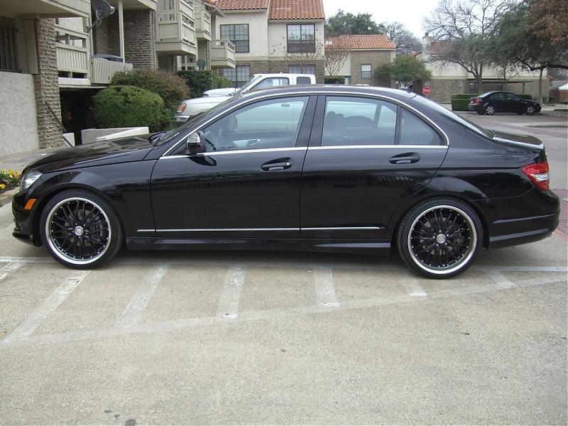 My black on black on black c300 mercedes benz forum for 2008 mercedes benz c300 rims
