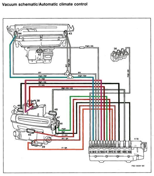 R129 Climate Control Vacuum Schematic