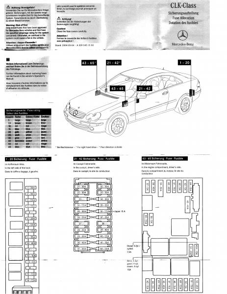 mercedes s420 fuse box example electrical wiring diagram u2022 rh huntervalleyhotels co 2004 Mercedes S430 Fuse Numbers Mercedes ML320 Fuse Box