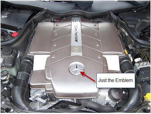 2004 clk 55 engine cover emblem mercedes benz forum attached images publicscrutiny Gallery