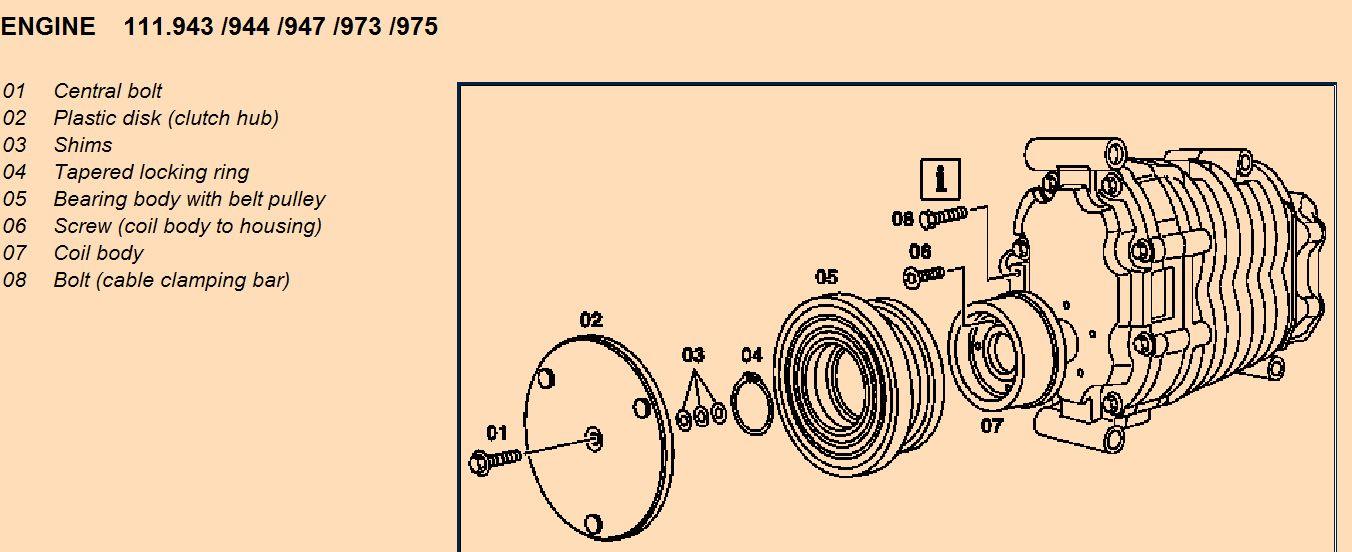 removing the supercharger pulley mercedes benz forum. Black Bedroom Furniture Sets. Home Design Ideas