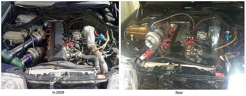 my 300e m103 from twin turbo to single to mercedes