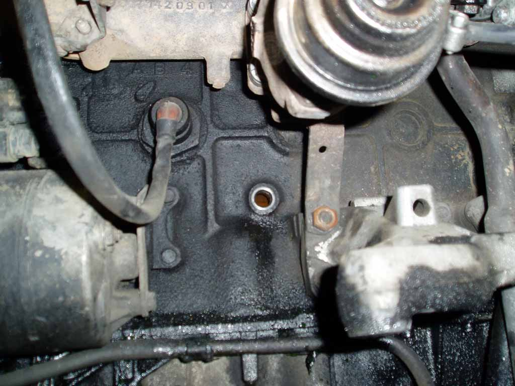 Coolant Drain Plug On The Engine Block Mercedes Benz Forum