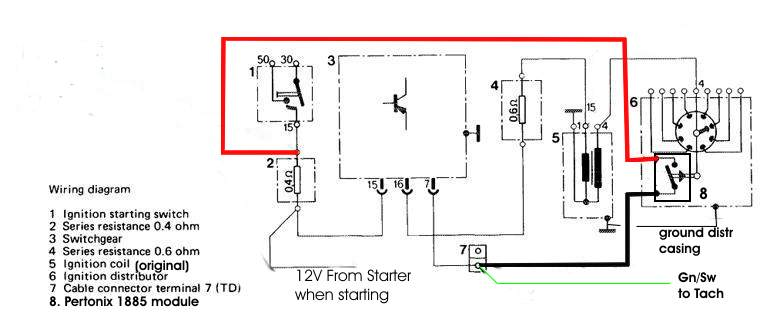 schematic diagram electronic ignition system images mallory pertronix ignitor ii wiring diagram