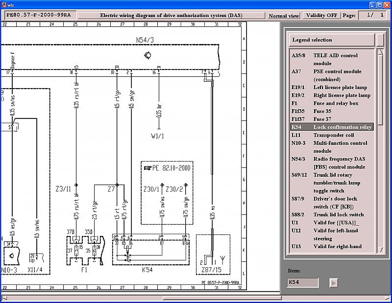Wiring Diagram Of Passenger Footwell Control Units Area - Page 2