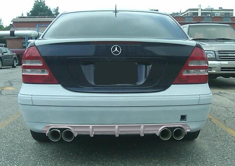 w203 non amg diffuser mercedes benz forum rh benzworld org Mercedes W126 W220 RENNTECH