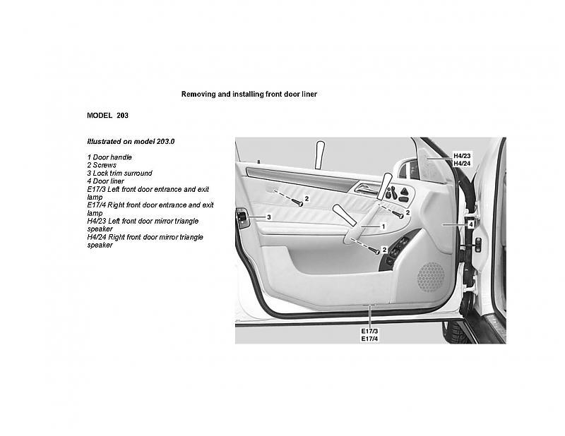 Interior Door Handle Mercedes Benz Forum