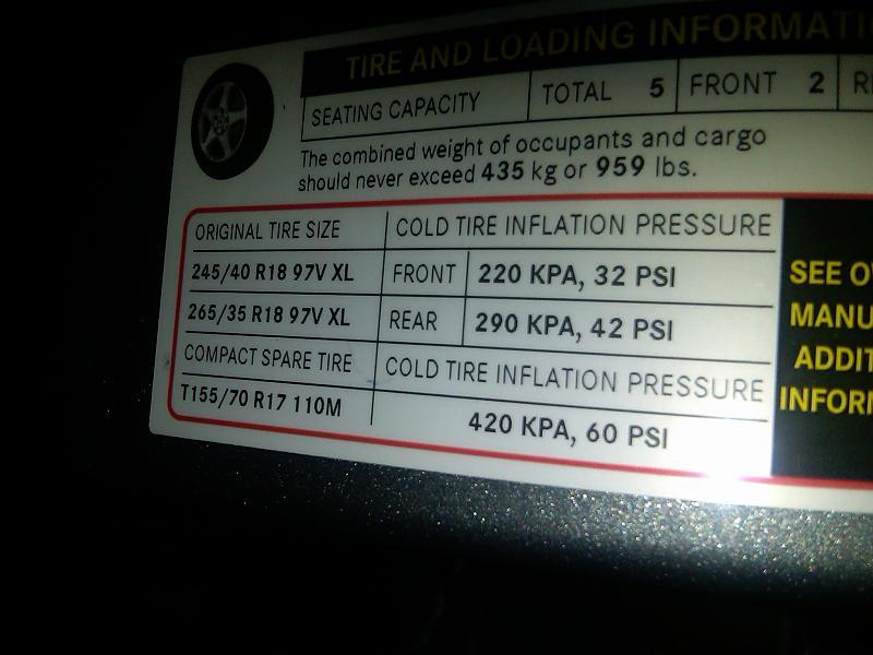 E350 Tire Pressure Mercedes Benz Forum