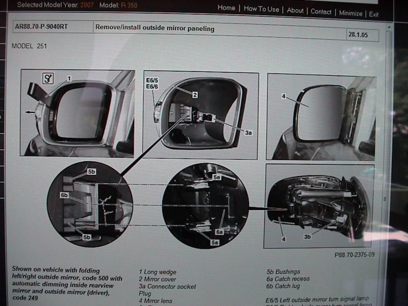 How To Change Bulbs In Sideview Mirrors Mercedes Benz Forum