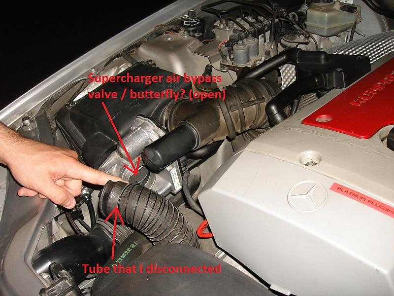 Oily Maf And The Supercharger Air Bypass Valve Butterfly Mercedes Benz Forum