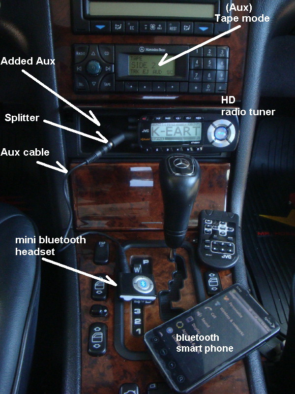 easy to add bluetooth to your added aux input mercedes