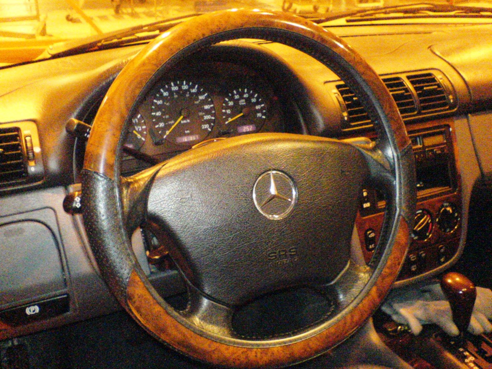 burlwood/leather steering wheel cover - mercedes-benz forum