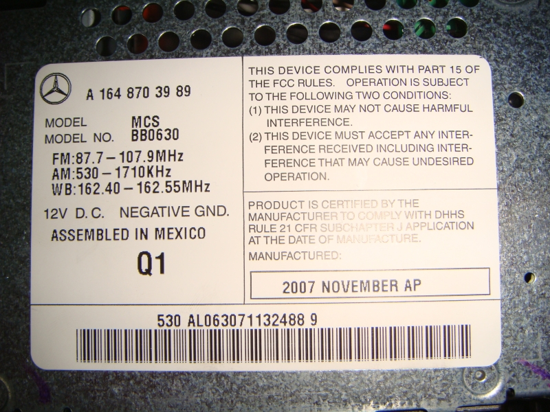 FS: COMAND Navigation unit with Nav DVD for W164 (ML) and X164 (GL)-dsc03432.jpg