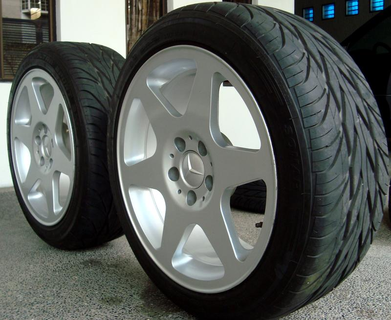 Mercedes benz evo 2 rims with tires for sale mercedes for Mercedes benz rims for sale