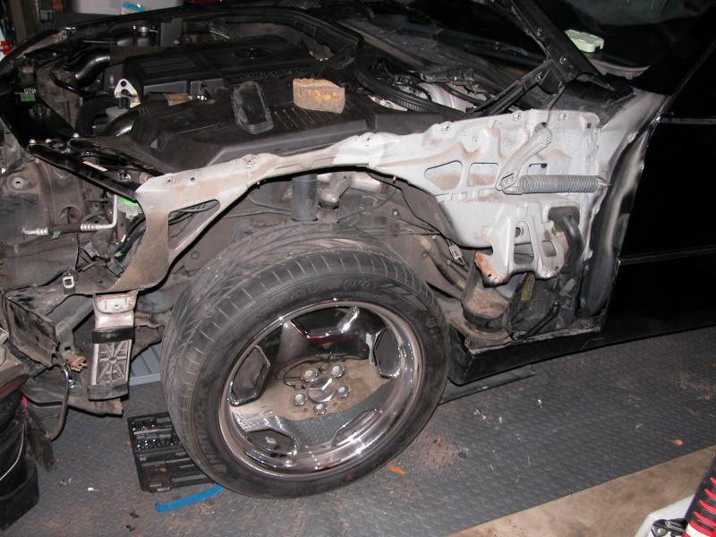 Mercedes Benz Sprinter >> Removing Left Front Quarter Panel from W140 - Mercedes ...