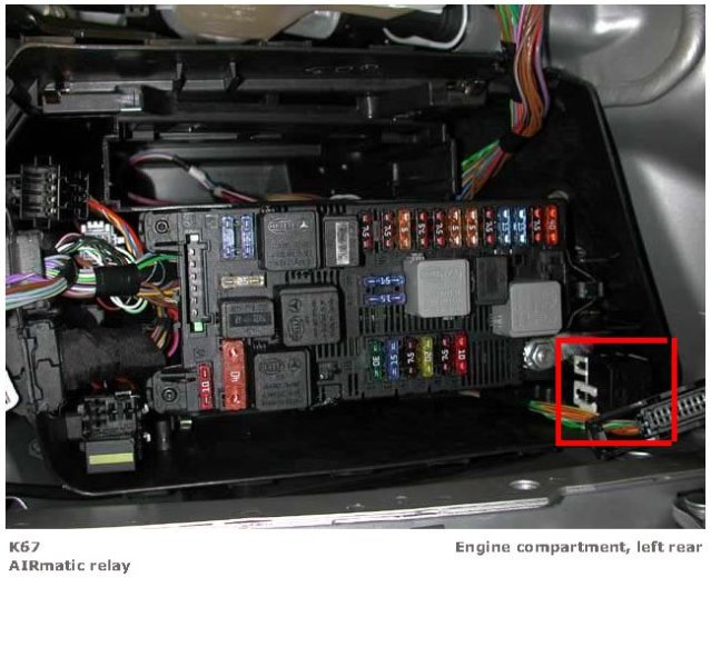 airmatic sagging need to find relay s on a 2005 cls 55 amg