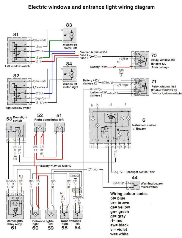 350 clk electrical wiring diagram 1975 r107 electric window problem mercedes benz forum  1975 r107 electric window problem
