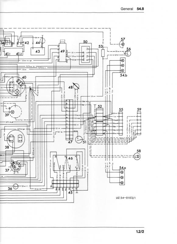 Wiring       diagram    or color breakdown 1970 406  MercedesBenz